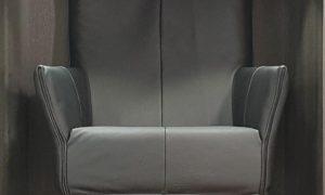 Montis Charly fauteuil zwart leer REFURBISHED