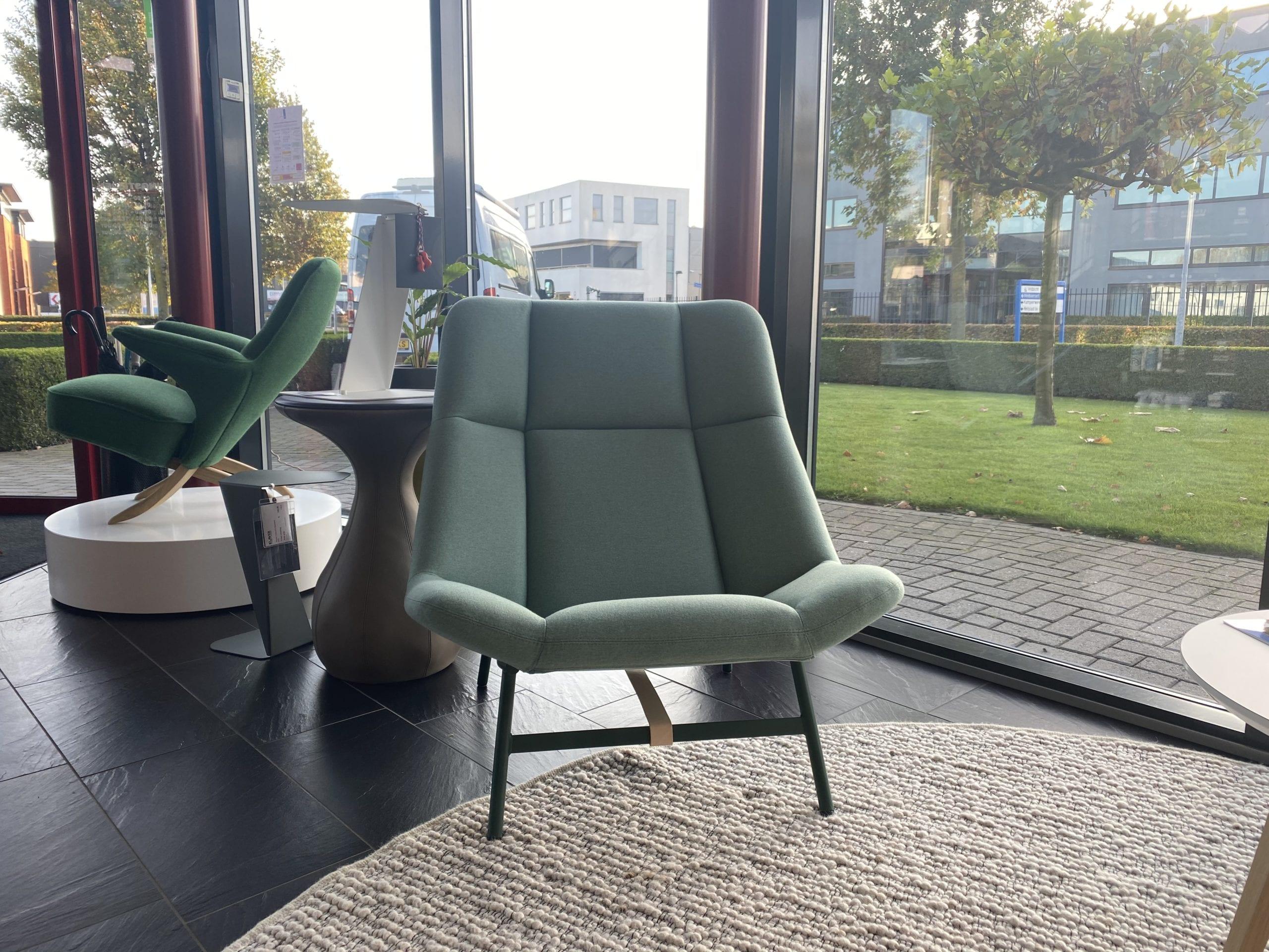 Artifort Soft Facet Mint groen lounge fauteuil