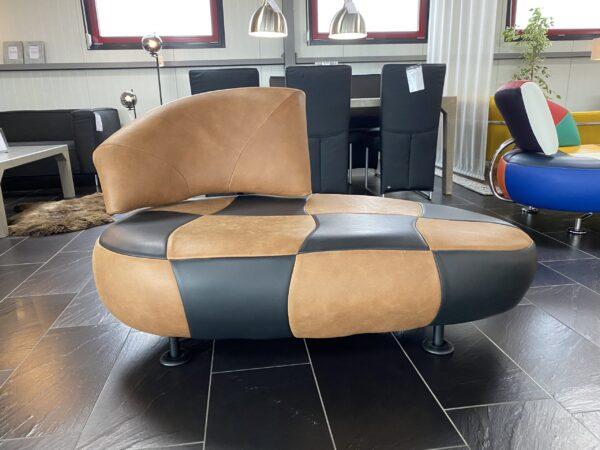 Leolux Kikko Roughzwart fauteuil REFURBISHED