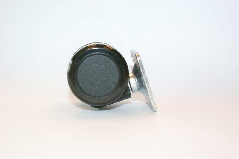 Zachte wielen 37mm met bevestigingsplaat - per stuk
