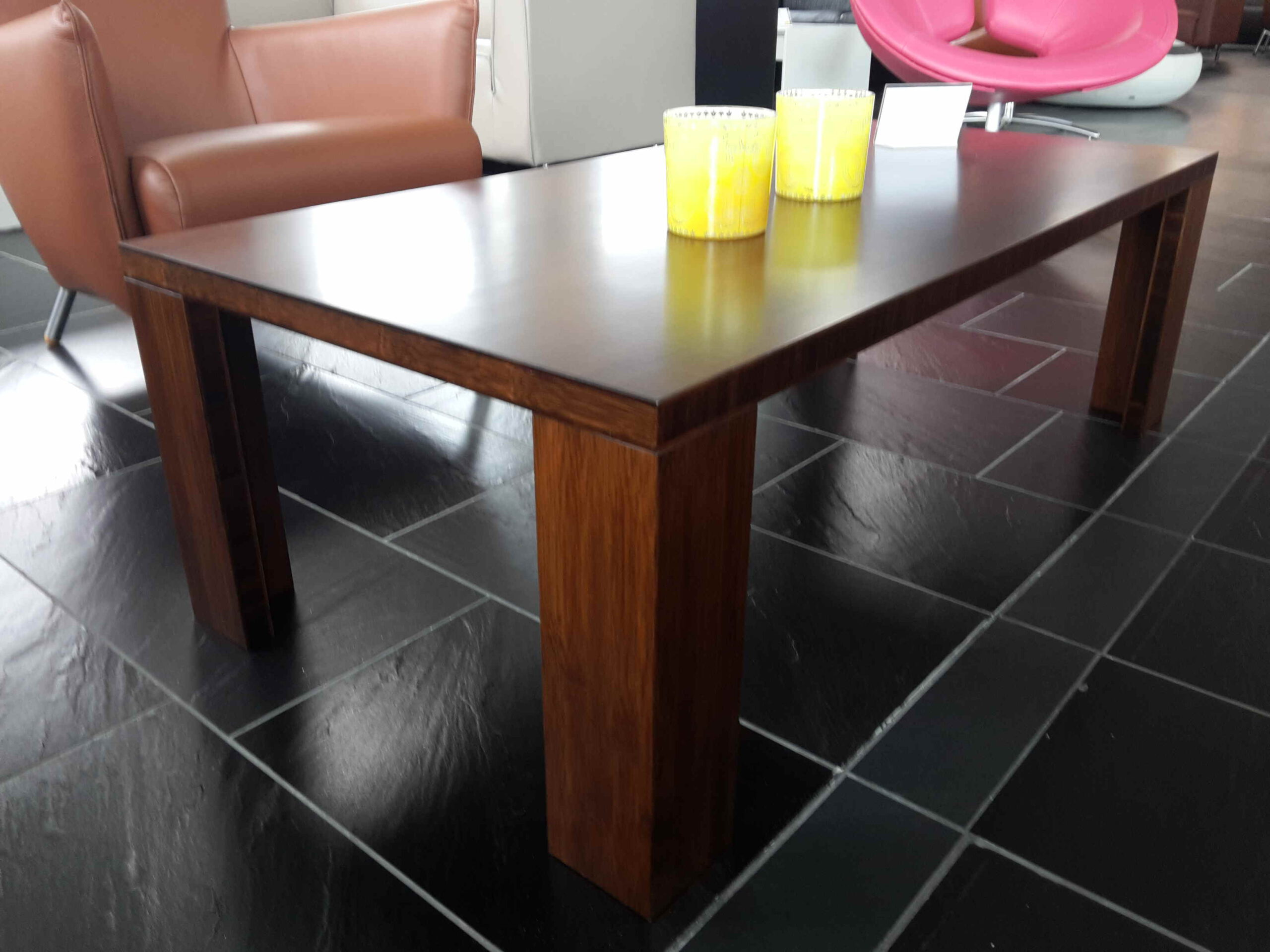 Ecologisch vervaardigde Bamboe salontafel in kleur gelakt