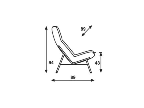 Afmetingen Artifort Soft Facet fauteuil