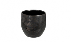 Bloempot Antique Smokey Keramiek Zwart Medium (98626)