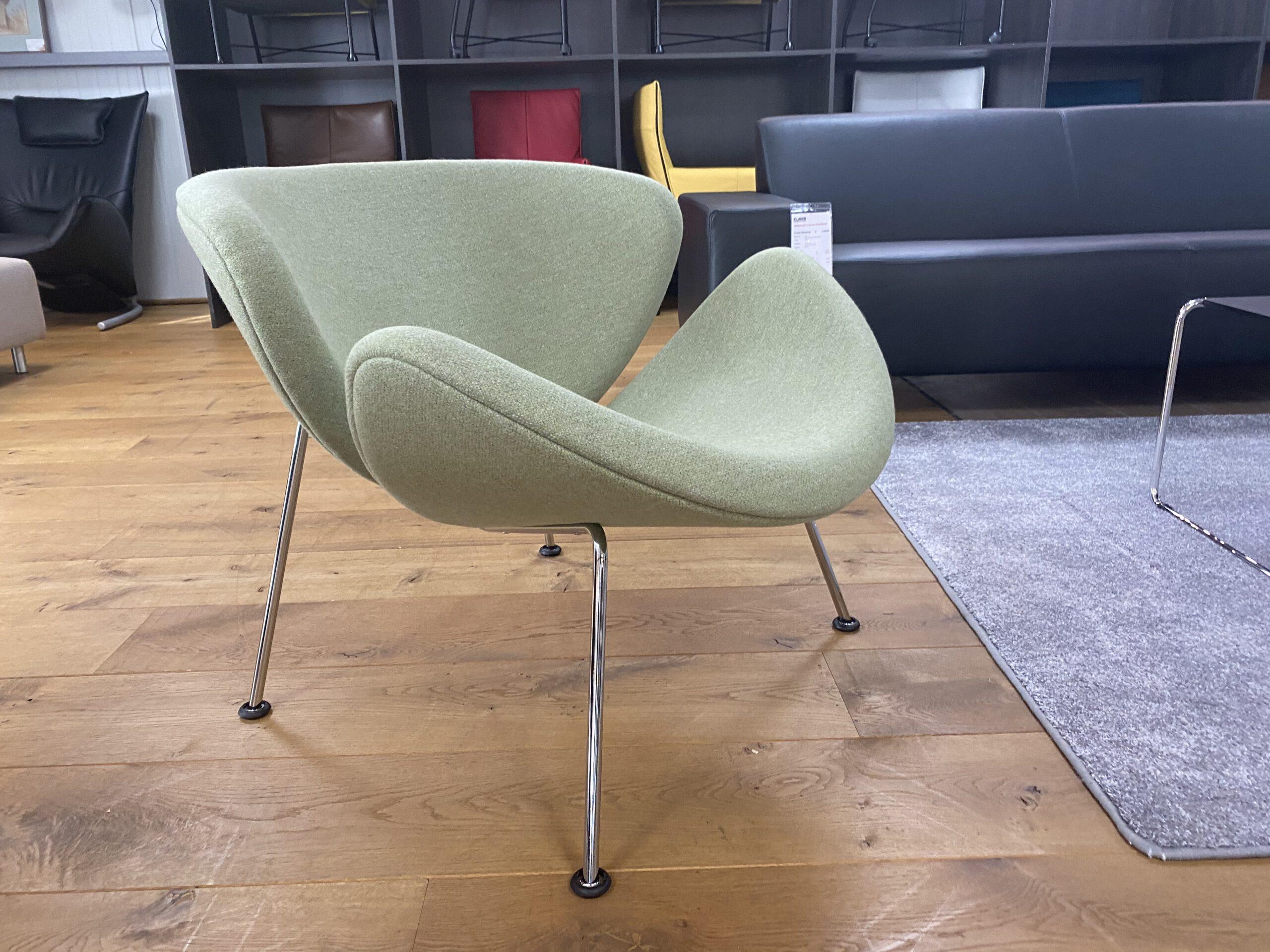 Artifort Orange Slice fauteuil laag groen  - Showmodel