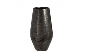 Vaas Antique Smokey Keramiek Zwart Large (98629)
