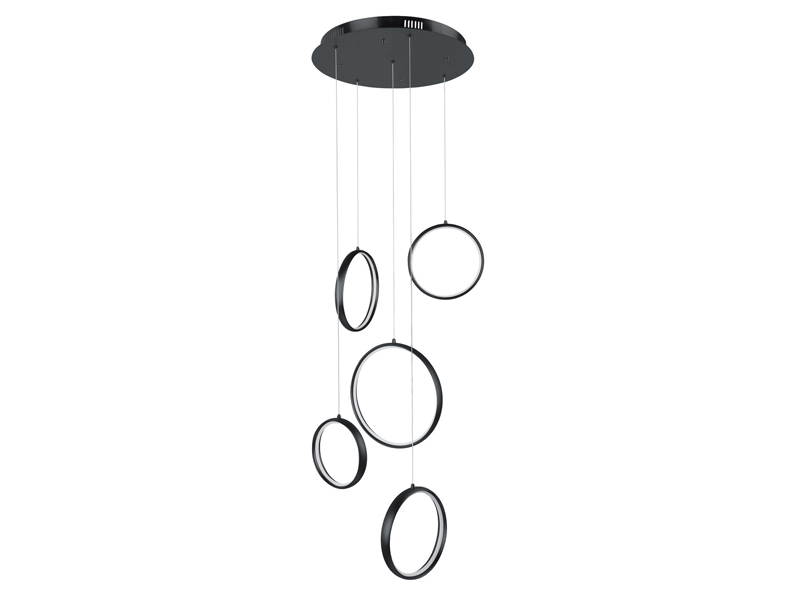 Highlight hanglamp Olympia zwart