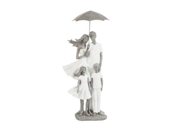 Beeldje familie met paraplu (80289)