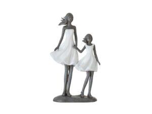 Beeldje moeder met kind poly (95538)