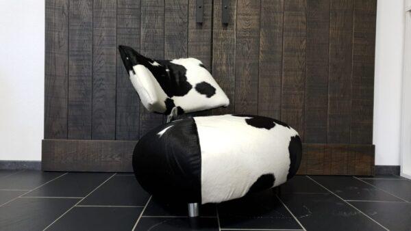 Leolux Pallone PA fauteuil koeienhuid REFURBISHED