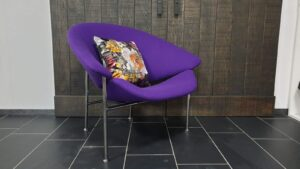 Artifort Glider fauteuil paars